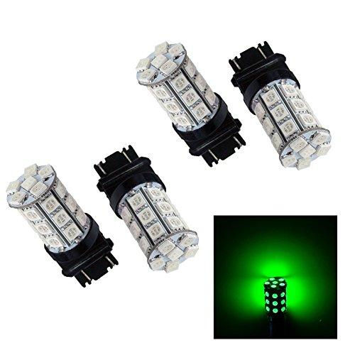 PA Lot de 4 ampoules 30 SMD 5050 LED feu stop 3156 3057 3157 12 V Vert