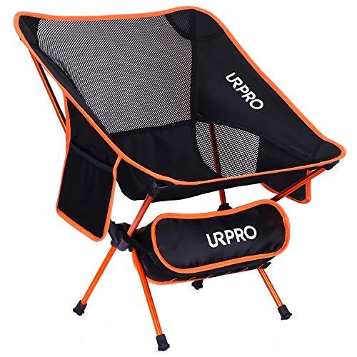URPRO Silla de Camping, Sillas Plegables portátiles ultraligeras con Bolsa de Transporte,...