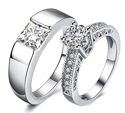 Beautiful Couple Rings Adjustable Valentine Gift for Lovers for Boys & Girls
