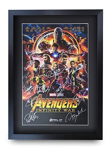 HWC Trading Avengers Infinity War A3 Gerahmte Signiert Gedruckt Autogramme Bild Druck-Fotoanzeige Geschenk Für Robert Downey Jr Chris Evans Chris Hemsworth Filmfans -