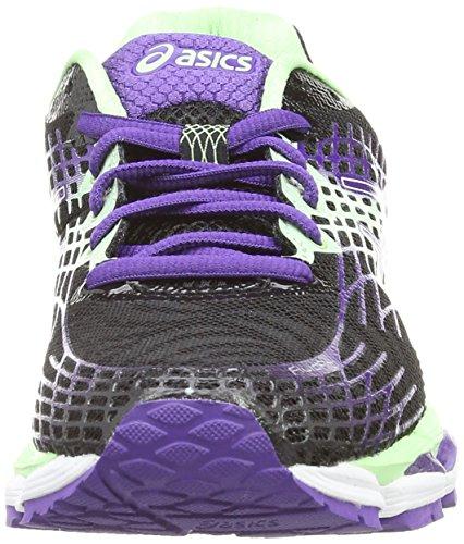 Asics Gel-Nimbus 17, Damen Laufschuhe Training Schwarz (Onyx/Purple/Mint 9935)