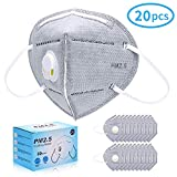 Disposable Dust Mask 20-Pack,ink-topoint Anti Dust Face Masks FFP2 with Filter/Respirator,Adjustable Nosepiece Unisex
