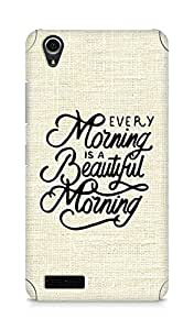 AMEZ every morning is a beautiful morning Back Cover For Lenovo A3900