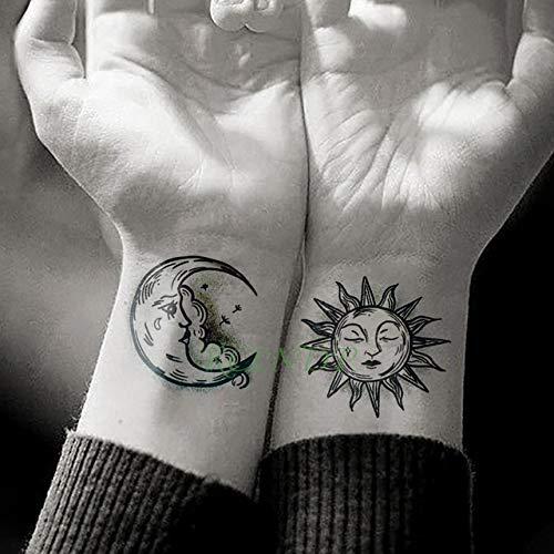 t temporäre Tattoo Aufkleber Sonne und mond Tattoo Hand und fuß Set männer und Frauen mädchen 5 Stücke- ()