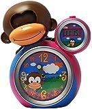 BabyZoo MoMo Monkey Sleep Trainer Clock - Pink