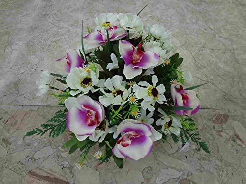künstliche Grabgesteck Sommer-Orchideen