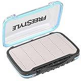 Spro Freestyle Rigged Box 15,4x10,6x4,5cm - Tacklebox für Kunstköder, Angelbox für Jighaken & Gummifische, Köderbox für Gummiköder