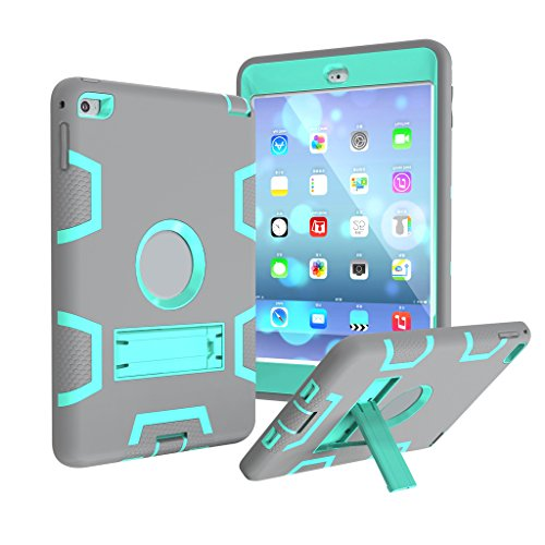 Yihya Schutzhülle Hybrid Bumper für Apple iPad Mini 1/2/3-aohro TRE-strati Cover Case PC Kunststoff Hartschale + weich Silikon Hybrid Shockproof Case mit Kickstand - Für Kunststoff-abdeckung Ipad Das