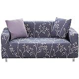 FORCHEER 1/2/3/4 Sitzer Sofabezug Sofaüberwurf Sesselhussen Elastisch Hautfreundlich 90-290cm (2-Sitzer Sofabezug, 025)