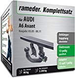 Rameder Komplettsatz, Anhängerkupplung abnehmbar + 13pol Elektrik für Audi A6 Avant (142599-05381-1)
