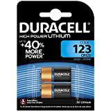 Duracell CR123A, DL123A, EL123A, CR17345 Ultra Photo Lithium Batteries, 2 Pcs