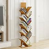 QIANGDA Bücherregal Split-Level-Design Bambus Stock Bücherschrank In Baumform Hohe Kapazität Gebrauchsgut, 7 Größen Wahlweise (größe : 40 x 21 x 132cm)
