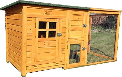 Hühnerhaus mit Dach und integrierten Freilauf und einfachen Reinigungsanwendungen
