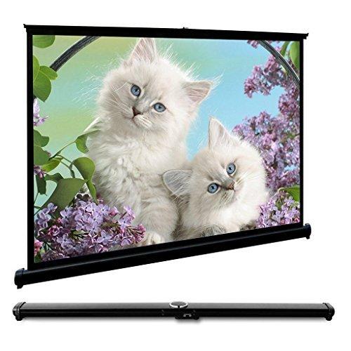 Motorized Projection Screen (EUG HD-Projektionsfläche Desktop tragbarer Projektorbildschirm für Präsentation Besprechung Heimkino)