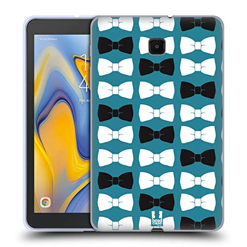 Head Case Designs Gentleman Bow Ties In Blue Band Muster Soft Gel Huelle kompatibel mit Galaxy Tab A 8.0 (2018) Bow Tie Taste