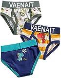 Vaenait Baby 86-122 Jungen Kinder Roboter Rakete motiv Shorts Slips Unterhosen 3-Packung Mehrfachpackung Slip Set