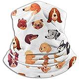 NTT Dogs Faces Funny Dog Face Puppy Pet Warmer per Collo - Manicotto per Ghette per Collo, Fascia per scalda Orecchie e Maschera per Il Viso.