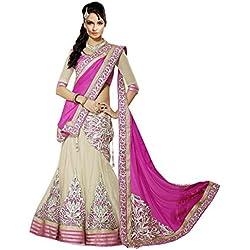 Janasya Net Saree (Jne0862_Multi-Coloured)