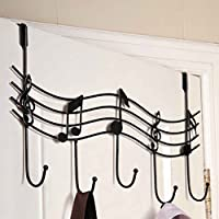 Lidahaotin Home Bathroom Kitchen Coat/Hat/Bag Metal Music Style Hook Hanger Organizer Iron