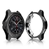 Ruentech Schutzhülle für Gear S3 Frontier, SM-R760 Cover Case All Inclusive galvanisiertes Gehäuse Tropfsicher und stoßdämpfend für Gear S3 Smart Watch, Schwarz