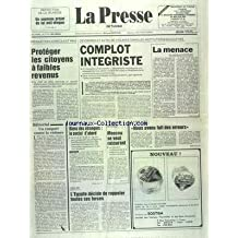 PRESSE (LA) [No 17315] du 09/05/1991 - PROTEGER LES CITOYENS A FAIBLES REVENUS - COMPLOT INEGRISTE - LA MENACE PAR MAHFOUDH - HABITAT - BIENS DES ETRANGERS - LE SOCIAL D'ABORD - URSS - PAYS ARABES - MOSCOU SE VEUT RASSURANT - TAREK AZIZ - NOUS AVONS FAIT DES ERREURS - GOLFE - L'EGYPTE DECIDE DE RAPPELER TOUTES SES FORCES