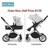 Hot Mom Multi cochecito cochecito 2en 1con buggy 2018nuevo diseño–Grey
