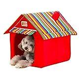 Yuno Hund House Hundehütten Kissen faltbar Pet Katzenbett SOFT Warm Matte Indoor