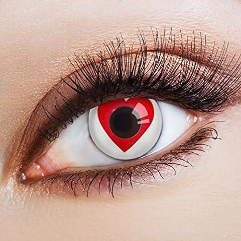aricona Farblinsen Farbige Kontaktlinse Heartbeat – Deckende Jahreslinsen für dunkle