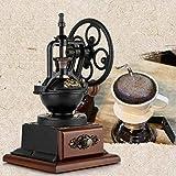 Yajiemei Handschleifer L-Bohnen Super Arbeit Saving Retro Hand Kaffeebohne Grinder Kaffeemühle (Color : Black)