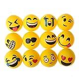 Beyond Dreams 12 PièCes Balle Rebondissante LED avec Visages souriants | Balle Rebondissante Superballe Lumineuse pour Enfants | en Caoutchouc avec Lumière Clignotante | Fêtes d'Anniversaire