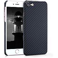 kalibri Hülle für Apple iPhone 7/8 - Handy Schutzhülle - Backcover Aramid Cover Hochglanz Schwarz