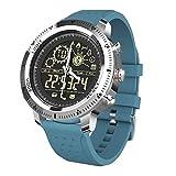 Lazzboy Reloj Inteligente, Hombres Y Mujeres Nx02 Sports Fitness Waterproof para Android E iOS Sports Fitness Podómetro Monitorización de La Frecuencia Cardíaca Reloj Inteligente (Azul)