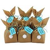 Papierdrachen DIY Osterhasen zum selber Basteln und Befüllen - mit Pompons zum Aufkleben - Geschenk zu Ostern Osterhase - blau - für Jungen