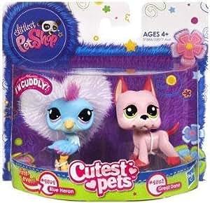 Duo Littlest Petshop Cutest Pets 2582 HÉRON BLEU tout doux & 2583 GRAND DANOIS ROSE