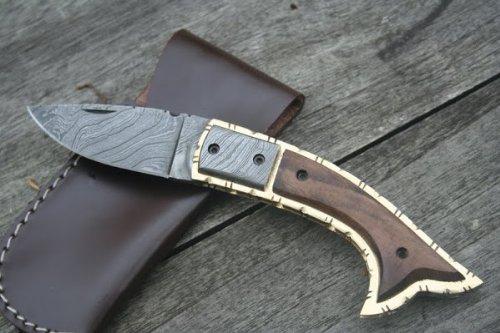 Couteau de cuisine damassé fischkopf couteau en acier de damas