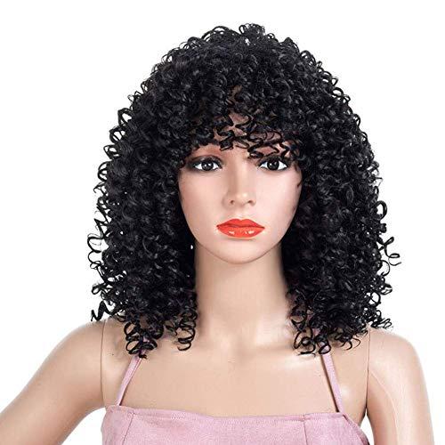 �rliche Mode wellige Lange Haare synthetische Frauen Locken Haare Damen Cosplay ()