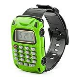 DealMux Home School Abnehmbare Armband Uhr Car Design 8 Digit elektronischen Taschenrechner grün