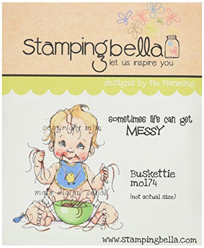 Stamping Bella cling timbro 16,5cm x 11,4cm, Buskettie - 2