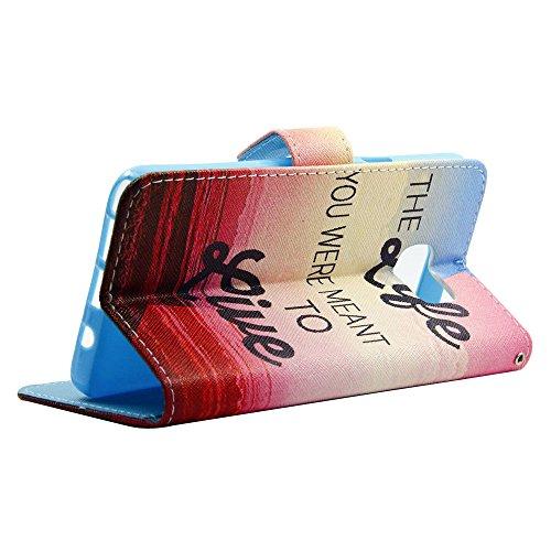 Cuitan PU-Leder Schutzhülle Hülle Handyhülle für Apple iPhone SE, Telefonkasten Handykasten Mappen-Kasten mit Kartensteckplätze und Magnetverschluss, Flip Wallet Case Cover - Stil 7 Stil 3