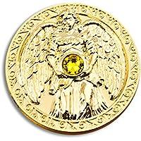 Engeltaler Reichtum Schutzengel Talisman 24kt vergoldet mit Kristall, Ø 27mm, Glücksbringer Glücksmünze Engel preisvergleich bei billige-tabletten.eu