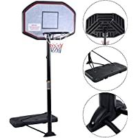 "IUNNDS Pro Court Height-Adjustable Portable Basketball Hoop & Stand System with 43"" Backboard"