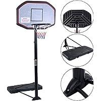 Canasta de baloncesto pro, altura ajustable, portátil, sistema de soporte con tablero de 110 cm, de IUNNDS