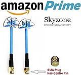 Skyzone 5,8GHz Kleeblatt FPV Antenne RHCP TX/RX Paar–SMA PLUG (Hat Pin)