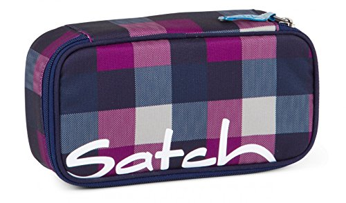 Satch by Ergobag Schlamperbox Berry Carry - Lila 966 karo lila blau