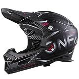 O'Neal Fury RL Fahrrad Downhill Helm Synthy Action Cam Mount Halterung FR MTB Mountain Bike Fullface, 0499-7, Farbe Schwarz, Größe M