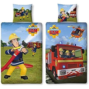 Cti housse de couette sam le pompier fire crew enfant - Housse de couette sam le pompier ...