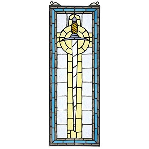 König-panel (Buntglas-Panel - Legende von König Artus 'Schwert Excalibur Buntglas-Fenster Behang - Fensterbehandlungen)