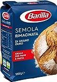 Barilla - Semola per Pane e Pasta di Grano Duro Rimacinata- 5 confezioni da 1 kg [5 kg]