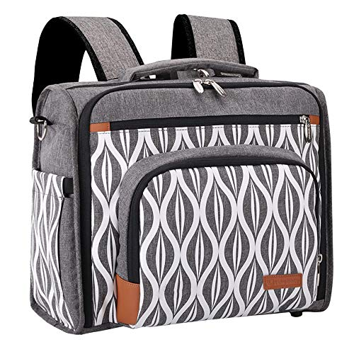Lekebaby - Bolso cambiador con cambiador, gran capacidad, bolsa de viaje, color gris