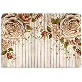 Walls And Murals Roses And Wood Planks Hd Digital 12X18 Inches Heavy Cotton Dining Table Place Mats(Set Of 6)